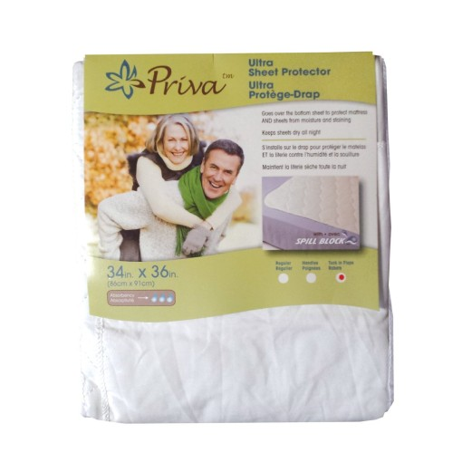 Ultra Waterprrof Sheet Protector for Urinary Incontinence with Tuck in Flaps