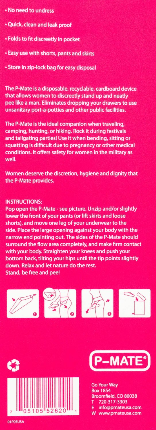 P-MATE Disposable Female Standup Urination Device