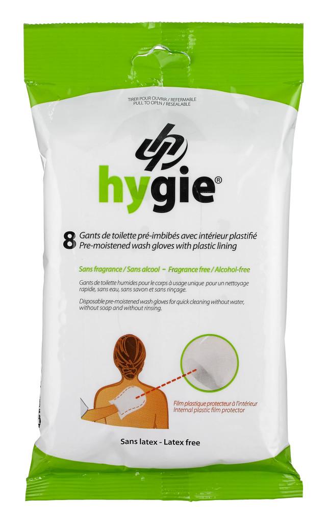 Hygie Pre-moistened Wash Gloves
